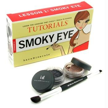 Smoky Eye Tutorials Lesson 1: Eyeshadow 0.57g + Glimmer 0.57g + Double-Ended Smoky Eye Brush - Bare Escentuals - MakeUp Set - Smoky Eye Tutorials Lesson 1 - 3pcs Tutorials Smoky Eye