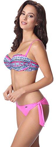 aQuarilla Bikini Conjunto para Mujer AQ123 Multicolor/Rosa