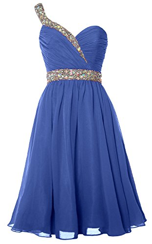 Prom Party Gown Horizon Short One Gorgeous Formal Shoulder Homecoming MACloth Dress T8xIzq