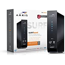 ARRIS SURFboard SBG7580AC 32x8 DOCSIS 3.0 Cable Modem / AC1750 Wi-Fi Router / McAfee Whole Home Internet Protection- Black