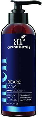 ArtNaturals Natural Beard Shampoo Wash - (8 Fl Oz / 236ml) - Infused with Aloe Vera, Tea Tree and Jojoba Oil - Sulfate Free (Jojoba Aloe Shampoo)