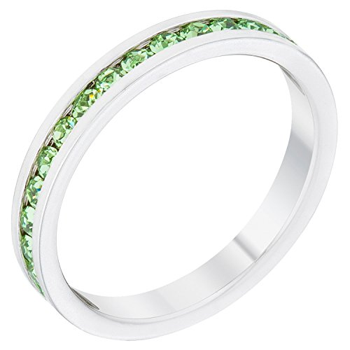 Swarovski Peridot Crystal Ring (Stylish Birthstone Stackables Swarovski Crystal By Kate Bissett Peridot -August Size 9)