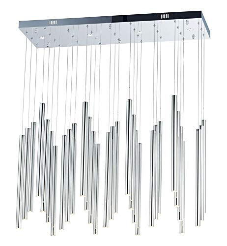 (ET2 Lighting E10010-PC Flute 31-Light Pendant-COB LED, Polished)