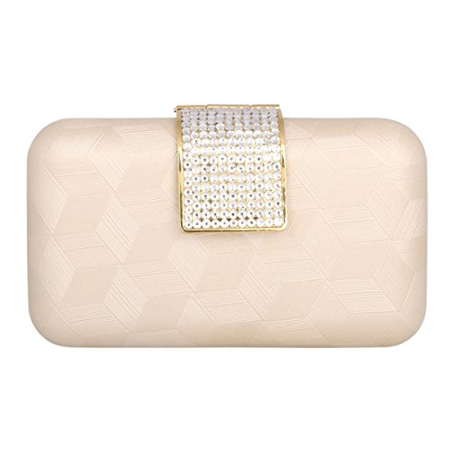 Chic Hard Damara Case Rhinestone Champagne Clutches Bags Evening Womens 4aXqA