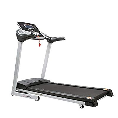 Sunny Health & Fitness Energy Flex Electric Treadmill with Bluetooth Connectivity, Automatic Incline, Speakers and 16 Preloaded Programs - SF-T7724