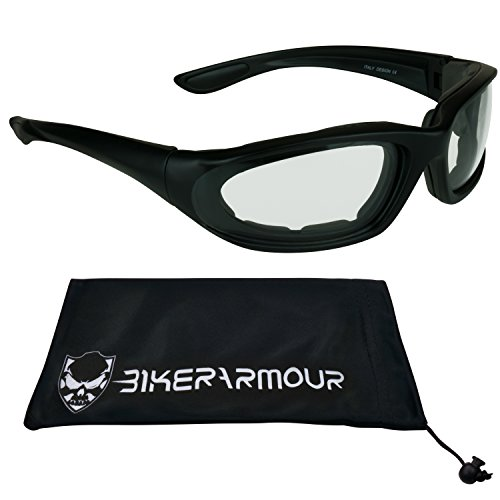 Black Frame Motorcycle Transitional Sunglasses for Women, Teens and Girls. Alfer Black Trans CL (Bikerarmour Microfiber)