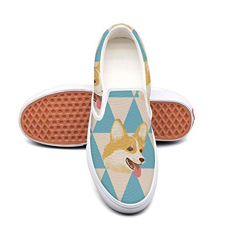- LOKIJM Man's Welsh Cute Corgi Puppies Boy Sneakers for Mens Low Top Breathable Walking Shoes
