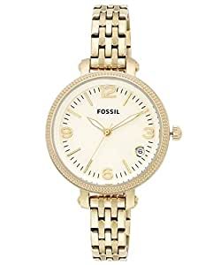 Fossil Heather White Dial Gold-tone Ladies Watch ES3181