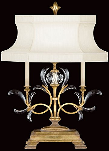 Fine Art Lamps 769110, Beveled Arcs Crystal Chandelier Table Lamp, 1 Light, 60 Total Watts, Gold ()