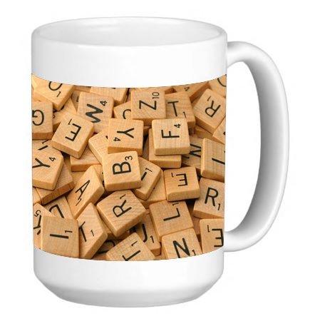 Popular Word Game Print 15 ounce Ceramic Coffee Mug Tea Cup