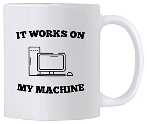 Casitika Computer Science Programmer Gifts. Funny Coding Geek 11 oz Coffee Mug. It Works On My Machine. Gift Idea for Developer or Programming Teacher/Student. Tech Work Humor Cup.