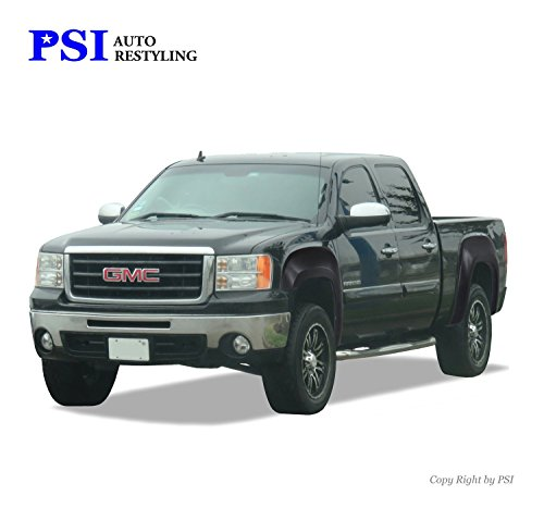 PSI Auto Restyling 800-0112 OEM Style Fender Flares; Front And Rear; Flare Width OEM; Tire Coverage OEM; Smooth Black (Flares Tire Coverage Fender)