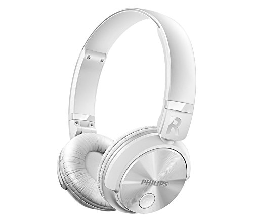Philips SHB3060WT - Auriculares Bluetooth inalámbricos con sonido potente (manos libres, totalmente plegable) color blanco: Philips