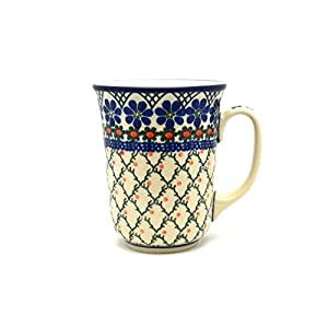 Polish Pottery Bistro Mug – 16 Oz – Primrose – Ceramika Artystyczna