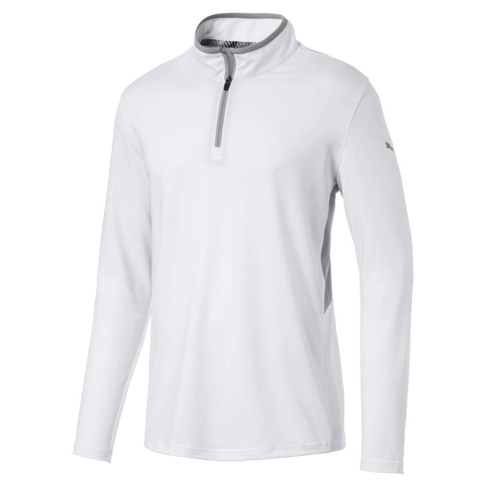 Puma Golf Men's 2019 Rotation 1/4 Zip, Bright White, 3X-Large