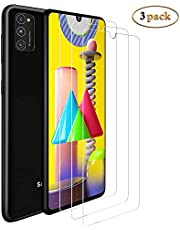 [3 Pack] Samsung Galaxy M31 Screen Protector,HD Clear 9H Hardness Scratch Resistant Tempered Glass Protective Film for Samsung Galaxy M31