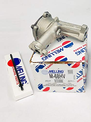 Melling High Volume Oil Pump & Shaft compatible with Ford sb 5.0L 302 289 260 255 221 (High Volume Pump)