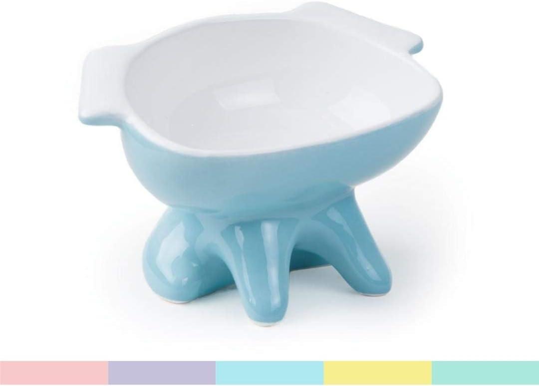 ViviPet Premium Elevated Dog Feeder, Single Raised Cat Bowl Ceramic Bowl, Perfect for Small to Medium Sized Cats.
