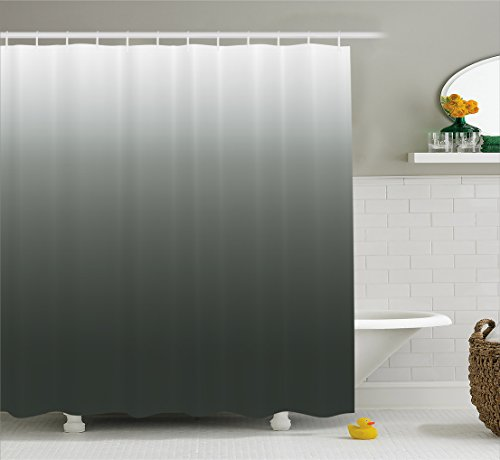 grey ombre shower curtain - 3