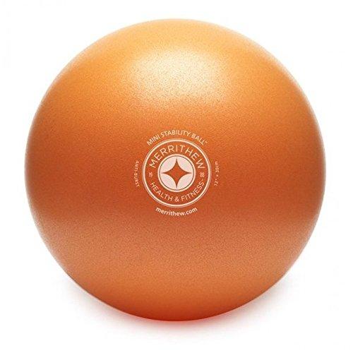 STOTT PILATES Mini Stability Ball (Orange), 12 Inch / 30 cm