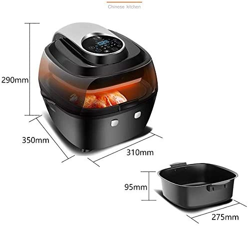 WEIZI Friteuse à air entièrement Automatique friteuse à air Intelligente de 6 5 L Chauffage à 360 Cycles friteuse à air Automatique de 1350 W température et minuterie réglables