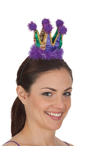 [Jacobson Hat Company Women's Mini Crown Headband- Mardi Gras, Mardi, Adult] (Adult Womens Mardi Gras Queen Costumes)