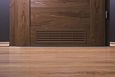 """Bathroom Door Air Vent Grille 455mm x 135mm / 18"""" x 5.3 inch Two Sided Ventilation Cover T15"""