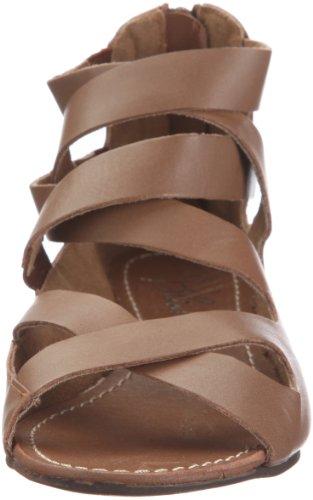Blink Sepp 37 tan zip 801230-A4 - Sandalias de vestir de cuero para mujer Marrón
