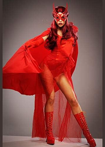 Disfraz de superhéroe Estilo Bruja Escarlata para Mujer Medium (UK ...