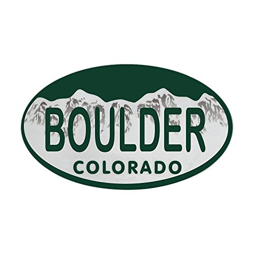 CafePress - Boulder Colo License Plate Sticker (Oval) - Oval Bumper Sticker, Euro Oval Car (Boulder Sticker)