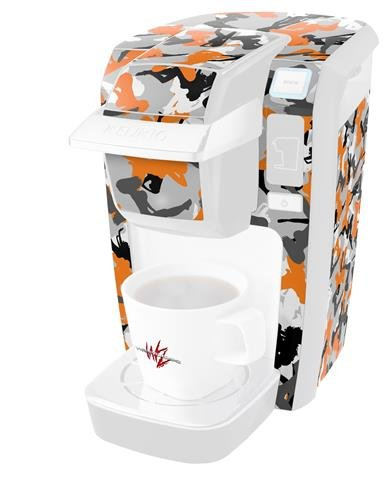 Sexy Girl Silhouette Camo Orange - Decal Style Vinyl Skin fits Keurig K10 / K15 Mini Plus Coffee Makers (KEURIG NOT INCLUDED) by WraptorSkinz (Image #3)
