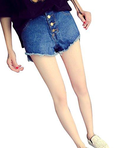 Azul Jeans Pantalones Vaquero Mujer Cortos Corto Vaqueros Pantalón xvfBT