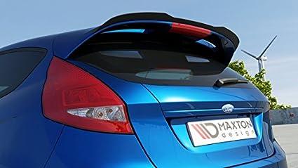 Maxton Design Alerón extensión Cap Ford Fiesta MK7 ST Facelift/Zetec: Amazon.es: Coche y moto