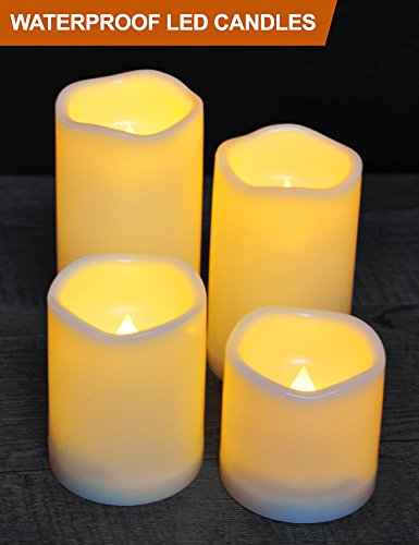 Outdoor Lighted Plastic Candles - 6