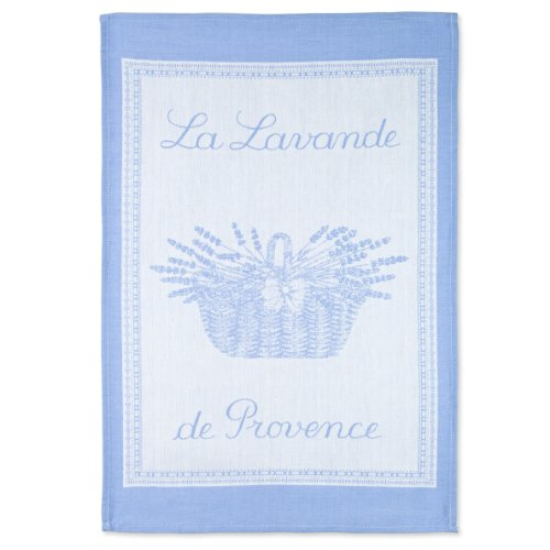 COUCKE French Jacquard Cotton Kitchen Dish Towel French Table Collection, Lavande PJ, 20-Inches by 30-Inches, Lavender -