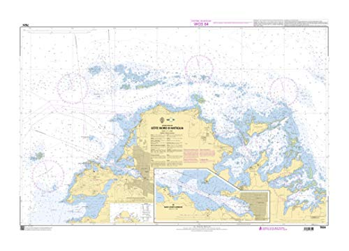 SHOM Chart 7624: Cote Nord d'Antigua, 33 x 47 inches, Premiere Bond Paper