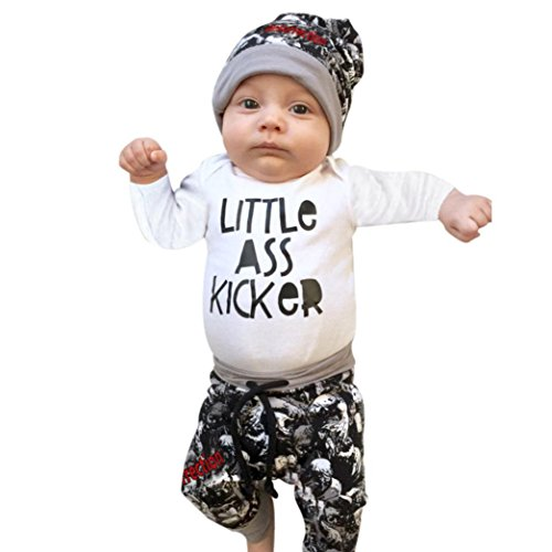 Coerni Premium Baby Cotton Clothes Set of 3 Romper+Pants+Hat (18M, White) by Coerni