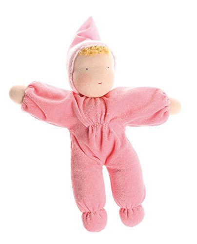 Toys Waldorf Dolls (Grimm's Soft Cuddle Baby Natural Waldorf Doll, Pink)