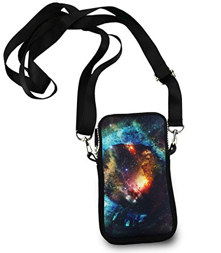 KYWYN Cellphone Case Pouch, Starry Sky Planet Vast Universe, Small Phone Wallet Purse Shuldder Bag, Teen Girls Phone Holder Gift - Great for Gym Travel Hiking