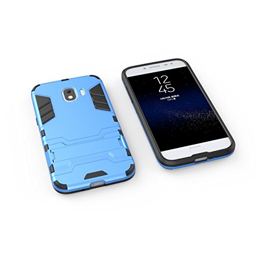 Estuche rígido de TPU y protección de cuerpo entero para Samsung Galaxy J2 Pro (2018) ( Color : Black Blue ) Blue
