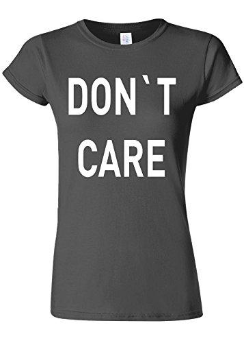 貫通する入札スクラップブックDo Not Care WTF Novelty Charcoal Women T Shirt Top-M
