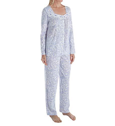 Carole Hochman Floral Jersey - Carole Hochman Women's Floral Long Pajama Set, Lilac Vine, S
