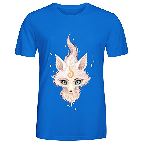 white-fox-mens-crewneck-t-shirts-blue
