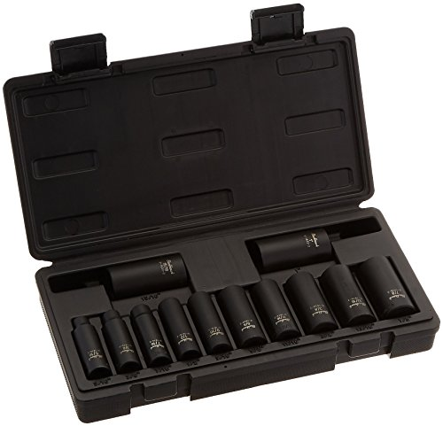 Blackhawk By Proto U-1512DS 6-Point Drive Deep Impact Socket Set, 3/8-Inch, 12-Piece
