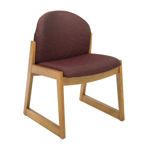 Safco Urbane Cherry Side Chair with Arms