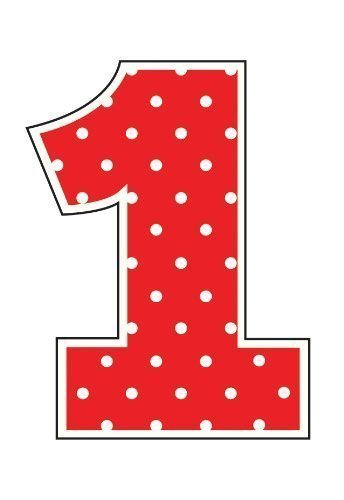 Fancy Ladybug Polka Dot 1st Birthday Party - Shaped Number 1 Candle by Creative Party -