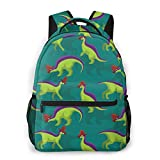 Cute Lambeosaurus Kids  Backpacks Durable Travel Daypack Bag
