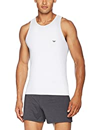Men's Stretch Cotton Vest, White