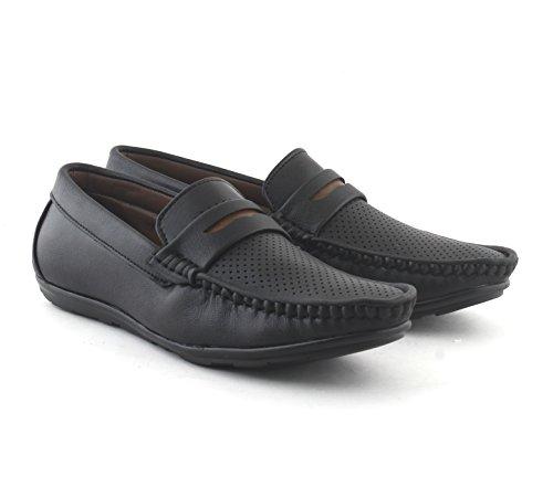 AORFEO Black Loafer Shoes For MenCasual Men Loafers No Lace LOAFER68_7