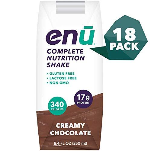 ENU Creamy Chocolate Weight Gain Shakes for Supplementation or Tube Feeding - 18-pack, 8.4 fl oz (250mL) each ...